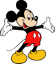 Famous cartoon character mickey mouse