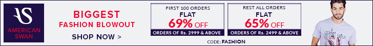 American Swan - Flat 69% on 2999 & Above, Next all - Flat 65% off for 2499 & above