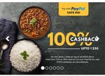 Box8: 100% cashback upto RS. 250 if you pay via PayPal