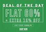 NNNOW Deal Of The Day : Flat 60% OFF + Extra 15% OFF on Apparels and Accessories