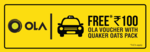 100 Rs ola discount voucher free with quaker oats