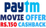 Flat 50% Cashback upto 150 on INOX Cinema tickets booking on Paytm (All users)