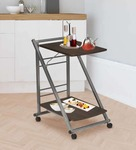 Oshima Metal 2 Tier Bar Trolley in Grey Colour by @home 56%OFF