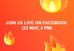 Join us for a LIVE voice interaction on Facebook at 4 PM on 23 May 2019