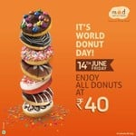 World Donut Day Offer at MOD - All donuts @₹40 (14th June)