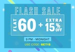 NNNOW Flash Sale : Flat 60% + Extra 15% OFF on Apparels and Accessories (9pm-midnight)