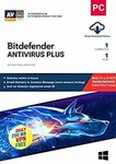 Bitdefender Antivirus Plus 1 PC 1 year. May be ₹104 for some users after applying ₹25 coupon