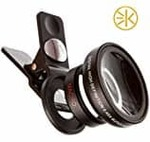 VOLTAC Universal Clip Type 3 in 1 Fish Eye, Wide Angle & Macro Lens for All Android/Smartphones Pattern