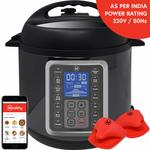 MultiPot 9-in-1 Programmable Electric Pressure Cooker 6 Litres with Stainless Steel Pot, Steamer Basket and Instant access to Mealthy Recipe App. Pressure cook, slow cook, sauté, rice cooker, yogurt & steam.