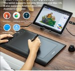 Huion H610 Pro V2 Graphics Drawing Pen Tablet -Free Stylus
