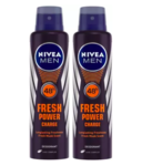 Nivea Men Fresh Power Charge Deo Spray -For Men(300 ml,Pack of 2) @ Rs197/- MRP Rs.380/-