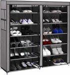 Shopper52 Standard Double Dustproof & Dampproof Shoe Rack