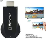 (Amazon) MiraScreen Wireless WiFi Display Dongle 1080P HDMI TV Stick Screen Mirroring Miracast DLNA Airplay-Black