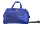 Safari Pret 59 Cms Polyester Navy Blue Check-In 2 Wheels Soft Duffle @1695