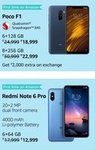 Poco F1 and Redmi Note 6 pro First Time On Amazon