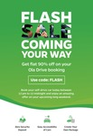Ola Self Drive FLASH SALE - Flat 90% Off on Ola Drive Booking | Today 12 Noon - 12 MidNight
