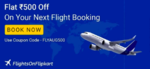 Flat Rs. 500 off on Flight Booking (No minimum amt)