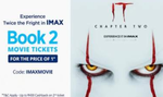 Book 2 iMax Movie Tickets for IT-2 Movie & Get 100% Cashback upto 400₹ on 2nd Ticket
