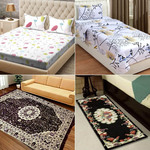 Multicoloured Combo Bedsheets with Carpet & Runner @ Rs. 1039 | Code: OFFER20 + Free Shipping