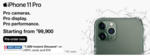 Iphone 11 pro 7k instant discount on amazon via hdfc