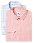 (39 Size) Excalibur by Unlimited Men's Solid Regular Fit Synthetic Formal Shirt (Pack of 2) (Colors & Print May Vary)