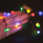 VG Bottle Lights Multi Color Battery Powered, Cork Shaped Fairy String DIY, Party, Decor (20LED, 2 Meters) (Pack of 10)