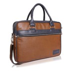 Trajectory Brown Messenger and Office Laptop Bag for Men and Women Professionals