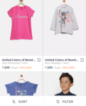 Flat 70% off on United colors of benetton
