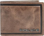 Police Men Brown Genuine Leather Wallet