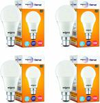 Wipro Garnet Base B22 10-Watt LED Bulb (Pack of 4, White)