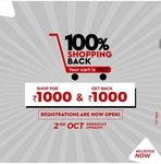 Brandfactory || 100% Shopping back || Shop for Rs 1000 & get Rs 1000 back
