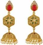 APARA COPPER JHUMKI EARRING WITH PEARL FOR WOMEN