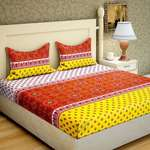 Bombay Linen 104 TC Cotton Double Printed Bedsheet