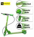 Zest 4 Toyz Skate Scooter for Kids with 3 Wheels and 3 Position Adjustable Height (Green)