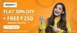 FREE Amazon voucher worth Rs.250 + Flat 30% off on 1st Medicine order