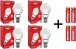 Upto 60% Off On Eveready LED Bulbs with Free Batteries.(Flipkart)