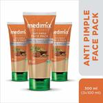 Medimix Ayurvedic Anti Pimple Face Pack, 100ml (Pack of 3)