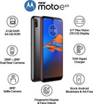 Moto E6s (Polished Graphite, 64 GB)  (4 GB RAM) @6398 rs only