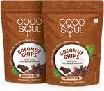 Coco Soul Coconut Chips, Chocolate, 2 X 33 g