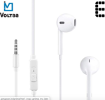 iVoltaa Earnetic E1 Wired Earphone with Mic and in-Line Remote (White)