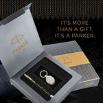 Parker Vector Spark Black Special Edition Roller Ball Pen Gift Set - with Round Key Chain
