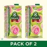B Natural Guava Juice 1L / Mixed Fruit Juice, (Pack of 2)