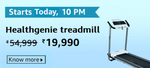 [Upcoming: 10:00 PM] Healthgenie Treadmill @ Rs.19990