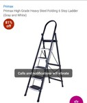 Primax   Loot..... Primax High Grade Heavy Steel Folding 6 Step Ladder (Gray and White)