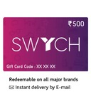 Swych 2k gift cards get 7.5% discount through RuPay cards or BOB cards