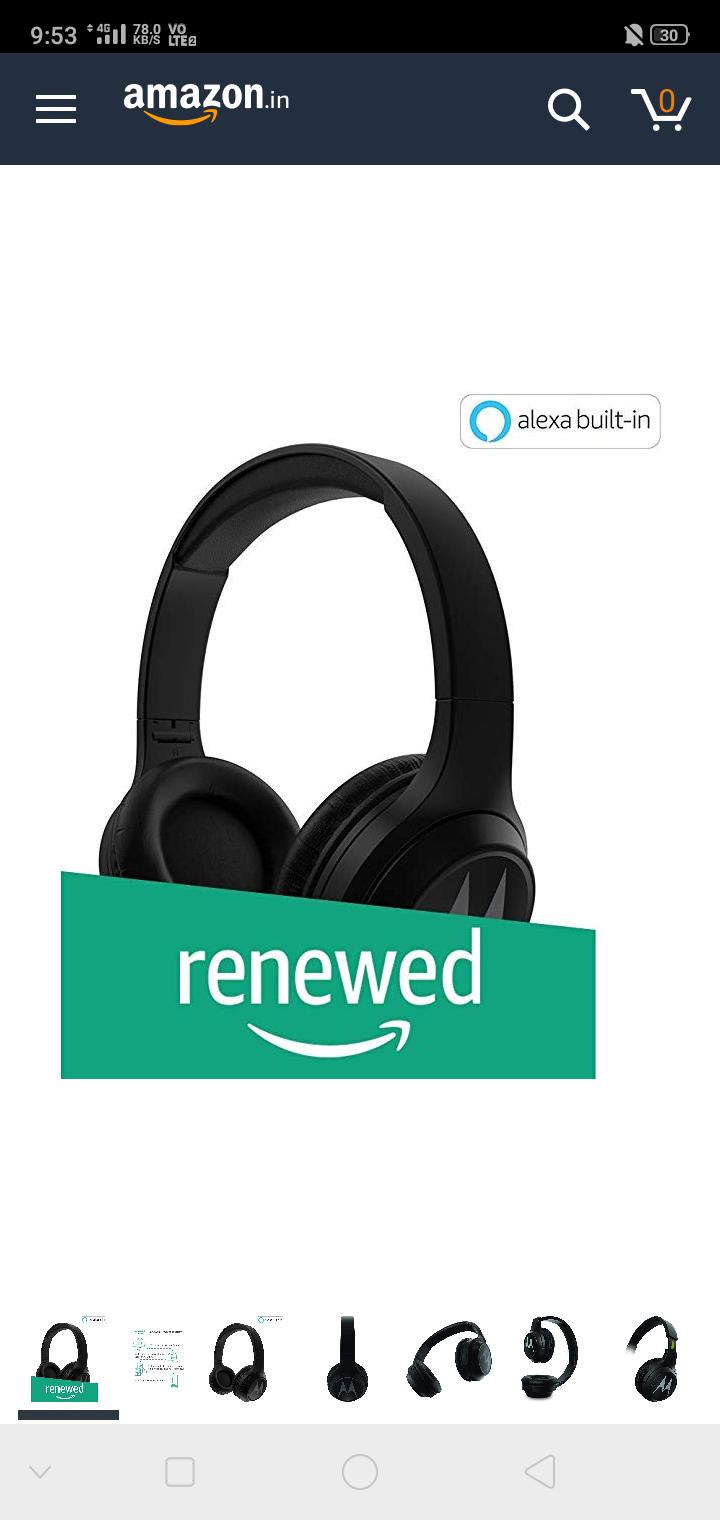 In Stock Again Renewed Motorola Escape 210 Over The Ear Bluetooth Headphones Black Desidime