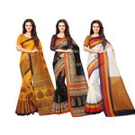 Bhagalpuri Traditional Saree (Pack of 3) @ just Rs. 639 | Use Code: OFFER20 + FREE SHIPPING