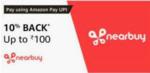 Flat 10% cashback  up to INR 100 using Amazon Pay UPI on Nearbuy