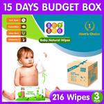 Beybee Cucumber and Aloe Vera Baby Wet Wipes Combo Offer (72 Wipes, Pack of 3) @ Rs 219