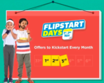 Flipstart days ( 1st -3rd November) : Upto 80% off on Electronics , Fashion, Home & Kitchen Appliances + Extra Rs.750/1000 Instant Discount with Bank Cards